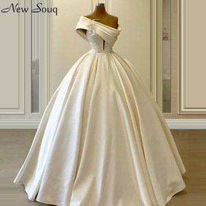 Elegant Ivory Ruched One Shoulder Evening Dresses 2020 A Line Floor Length Prom Party Dress Formal Dress Vestidos De Soiree