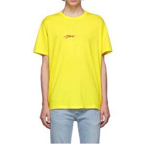2020 Luxe New Fashion Paris arc broderie signature colorée logo Europe Italie T-shirt Homme Femme T-shirt décontracté Coton Tee Top