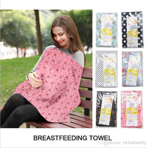 Still- Abdeckung für schwangere Frauen Laktation Abdeckung Blumenblumen-Punkt gedruckt Nursing Covers Frauen Feeding Cloth Up Euter Abdeckungen Schal DYP7038