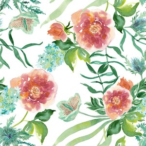 Polyester Fabric Custom Flower Pattern Digital Printing Thin Stretchy Decorate Quilting Sheet Pillowcase Sewing Material Cloth