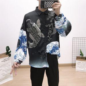 newest 2020 fashion Wave Of Men Plaid Shirt Print Colour Mixture Luxury Casual Harajuku Shirts short sleeve Men's Medusa Shirts SQ2020