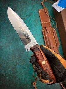 Специальное предложение OEM EXTREMA RATIO выживания прямой нож N690 сатин лезвия Rosewood Ручка фиксированным лезвием Ножи с кожаной оболочкой