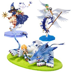 Digimon Adventure Digital Monsters Yamato Figura Angemon Wizarmon Anime Cartoon Toy Pvc Figura de Acción Modelo Muñeca Regalo 13-22cm Y190604