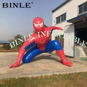 4mH riesiges aufblasbares spiderman Modell, attraktiv aufblasbaren Superhelden-Modell, Parade Cartoon Luftballons für Werbung