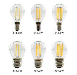 LED Filament Lamp 110V G45 Retro Glass Edison E27 E12 E14 E17 B22 2W 4W 6W Led Bulb Replace Incandescent Light Chandeliers