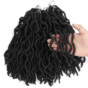 Boho Göttin Locs Synthetic Gerade 1B BUG 12 Zoll 18 Crochet Flechthaar Europa USA Schwarz Woven Haar