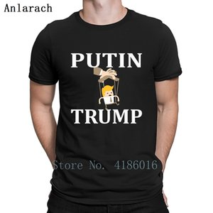 Russia Putin Controls Puppet Trump T Shirt Gift Cotton Custom Letter Pictures Summer New Fashion Crew Neck Shirt