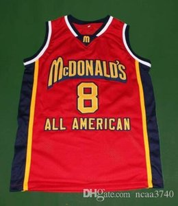 Custom Men Youth women Rare McDonald's K B White red College Basketball Jersey Size S-4XL or custom any name or number jersey
