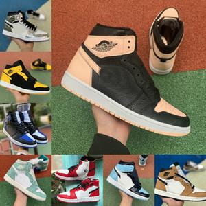 2020 Nike Air Jordan 1 retro jordans  de basket Turbo vert Origine histoire Gs Banned NRG X Union Retroes de Souliers Bleu Unc Blanc formateur