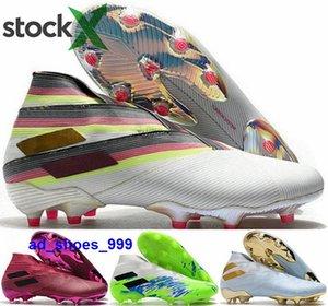 футбол розовое золото дети Nemeziz 19 мужские новое прибытие 2020 сапоги мужчины AG Месси футбол размер США 12 розовый FG женская летняя обувь мяч eur 46 бутсы