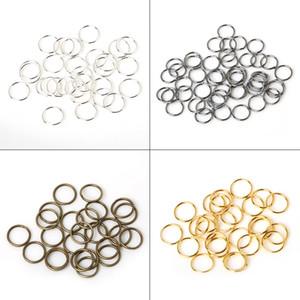 200pcs / Lot 8 milímetros 10 milímetros de bronze / Gun-metal / ouro / prata / ródio Abrindo Cabelo Anel Braid Dreadlock Bead Cuff Clipe Braid Ferramenta Hoop Círculo