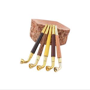 6.25inch Holz Metall Rauchpfeife Filter-Tabak-Zigaretten Hand Dry Herb Pipes Mundstück Halter Rohre Zubehör für Bohrinsel