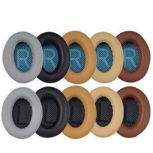 Auriculares Auriculares Reemplazo Orejeras Almohadillas Almohadillas Cojines para BOSE QC35 QC25 QC15 AE2 LR Pad algodón 25 Par / lote