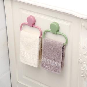 ABS, asciugamani portatile Rack facile da usare per bagno da parete Asciugamani anelli pasta Tipo Stick saldamente Titolare Rag calda 2 6xy Ww
