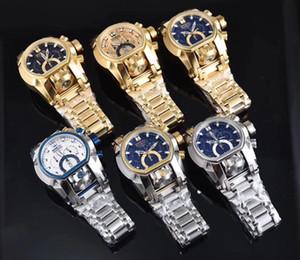 2018 Hot Luxury Men Watch Bolt Zeus Magnum resistente all'acqua placcato orologio doppio quadrante doppio fuso svizzero