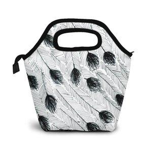 Эму перо обед мешок обед / льда мешки Портативный Изолированный Пикник Box для женщин мужчин