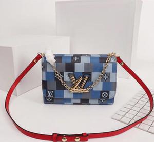 Frauen tragbare, wiederverwendbare Handtasche 2019 Neues Muster Small Square Paket Messenger Abzeichen Kette Packet diagonaler Geldbörsen