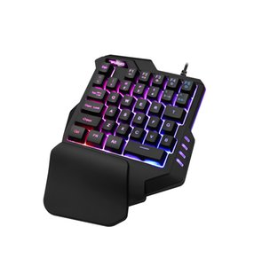 New game sccessories mini game player preferred USB wired single hand backlight keyboard mechanical for sale