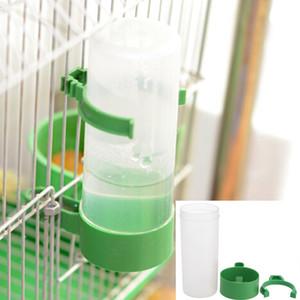 Pássaro de água do bebedor Alimentador Waterer com Clipe Pet Pássaro bebedor Suprimentos Dispenser garrafa de água Cup Bowls Para Pet Gaiola do papagaio