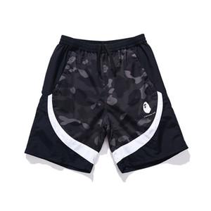 Bape Mens Shorts stilista spiaggia di estate del Mens pantaloni da uomo Donne Camouflage Stampa allentato pantaloni di scarsità di decorazione della chiusura lampo