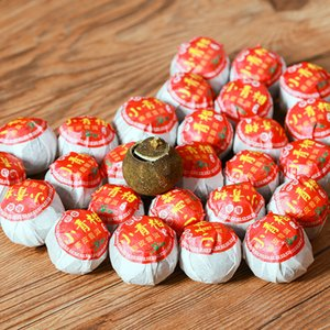 20 pc Pu'er tea Yunnan palace Pu'er ripe tea Aged Luzhou flavor Tangerine tea250g