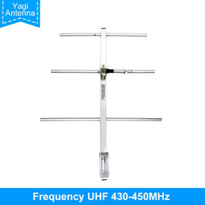 Yagi Antenna UHF430-450MHz High Gain 7DBd SO239 Connector Yagi Gamma Antenna fit for TYT MD398 Baofeng BF-888S UHF walkie talkie
