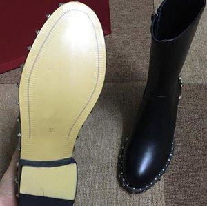 Designer-Ralia classique agenouillement moitié longues bottes cheville noir marine marron gris bleu café rouge femmes fgc19082202