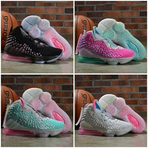Cheap New Mens Lebrons 17 XVII Basketball Shoes For Sale Lebron James 17s MVP BHM Oreo Kids Women Sneakers Shoes