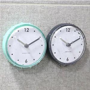 Pequeño Reloj de pared creativo diseño moderno Simple reloj de cocina impermeable reloj de baño Living Relogio Parede reloj decoración 60ZB