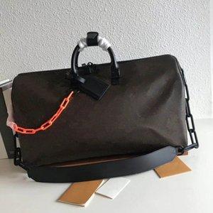 Keepall 50 Borse da viaggio per la borsa uomini e donne catena vera pelle superiore borse crossbody bag di qualità per le signore Uomo Dimensioni 50 x 29 x 22 cm