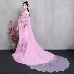 Gestickte rosa Chinese Charmante Frau Ethnische Kleidung Elegent Traditionelle Kleid weibliche Kostüm Antike China Princess Outfit hanfu Kostüm