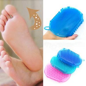 Banyo Eldiven Eksfoliasyon Duş Banyosu Fırça İçin Vücut Temizleme Silikon Edici Fırçası Scrubber Banyosu Scrub Eldiven Spa banyo aracı FFA3343A