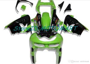 Motocicleta Set de carenados Para KAWASAKI NINJA ZX9R 98 99 ZX9R ZX 9R 1998 1999 verde negro Carenado kit KM20