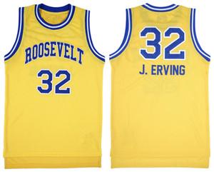 Ncaa Roosevelt Lisesi # 32 Julius Dr. J Erving Basketbol Forması Erkek Dikişli Özel made boyut S-5XL