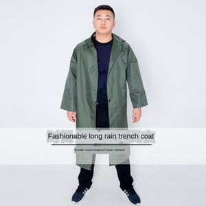 Integrated polyester spinning windbreaker fishing windbreaker style long raincoat security advertisement conjoined big gown rain