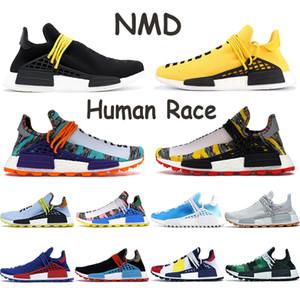 2020 NMD Human Race Men Laufschuhe Pharrell Williams China-Pack Frieden Glücklich PW Hu Pharrell Solar-Pack-Mutter Orange Rot Frauen Turnschuhe