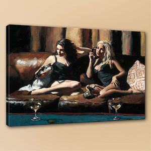 Odası Sanat Dekorasyon Boyama Fabian Perez Eugie ve Geo Yağlıboya Tuval Ev Dekor Duvar Sanatı Resim Handpainted HD Printed190820
