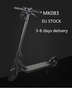 AB Stok Ücretsiz Kargo 3-6 günde teslimat, Kick Katlanır Elektrik Scooter Su geçirmez IP54 Kaju Fındık Elektrikli Scooter Moped Yetişkin Scooter CE