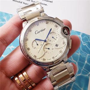 novo relógio à prova de água de luxo mens Rhinestone Relógios de pulso homens top Casual nível de design mestre assistir a eventos desportivos Relógios Negócios militares