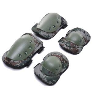 4 unidades / lote Adulto Tático de Combate Protecção Pad conjunto de engrenagens Professional Sports Knee Elbow Protector de cotovelo joelheiras Novas