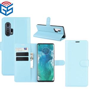 Für Motorola E6 Plus-E6S 2020 Litschi-Korn PU-Leder-Schlag-Mobiltelefon-Abdeckungs-Fall für Moto Edge-Plus-