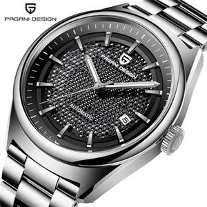 relojes hombre vigilanza di lusso meccanica 2019NEW PAGANI degli uomini di disegno di marca della vigilanza dell'acciaio inossidabile militare impermeabile Orologi uomini