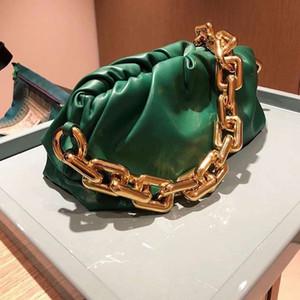 Cadena línea Celebrity Celebrity Style Chunky nube de un hombro-bolso de las mujeres del bolso del bolso de 2020 nuevo estilo