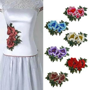 Clothing accessories embroidered lace cloth cowboy stickers national flower hot melt black glass