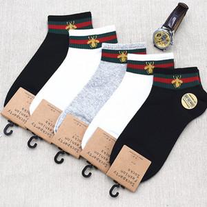 Nueva llegada de la abeja de algodón calcetines de las mujeres de los hombres Casual Sport pegan la mezcla del color del precio al por mayor