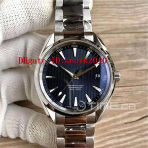 VSF Aqua Terra 231.10.42.21.03.003 Мужские часы из нержавеющей стали 150M Дайвинг часы синий текстурированный циферблат издание A8500 Механические часы