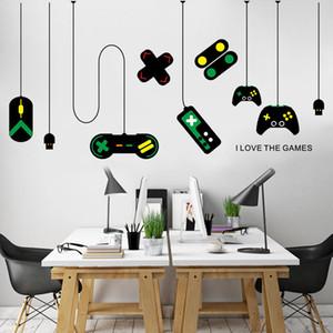 크리 에이 티브 게임 패드 벽면 스티커 도박 방 침실 인터넷 카페 어린이위한 장식 비닐 자기 친화적 인 아트 벽 데칼