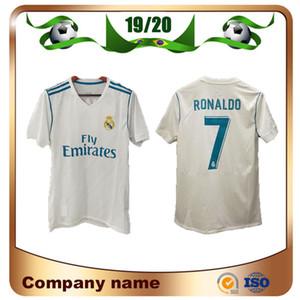 17/18 Player sürümü Real Madrid Home Soccer Jersey 7. RONALDO 8. Kroos Futbol Gömlek 10. Modric # 20 ASENSIO # 22 ISCO Futbol Uni