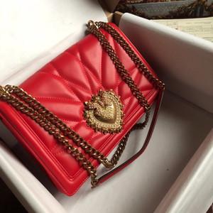 Nuovo Top donne delle borse di qualità di design di lusso borse autentica vera pelle con logo in oro catena borse a tracolla di marca sacchetto crossbody signora