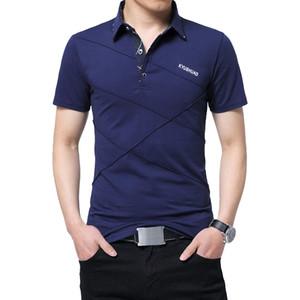 Tfetters 2018 Nuevo Casual Rayas T-shirt Hombres de manga larga Fitness Men Tee Shirt Ropa Camisetas Hombre Tshirt Tallas grandes Y19060601